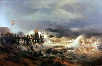 Achenbach, Andreas - Storm at Dutch Coast