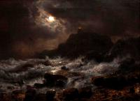 Achenbach, Andreas - Norwegian Coast by Moonlight