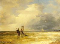 Achenbach, Andreas - Fishing Along the Shore