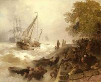 Achenbach, Andreas - Return To Harbour In Rough Seas