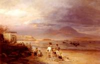 Achenbach, Oswald - Fishermen with the Bay of Naples and Vesuvius beyond