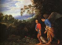 Adam Elsheimer - Copy after the lost large Tobias and the Angel