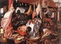 Aertsen, Pieter - Butcher's Stall with the Flight into Egypt