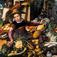 Aertsen, Pieter - Market Woman with Vegetable Stall