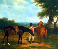 Agasse, Jacques-Laurent - Two Hunters with a Groom