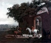 Agasse, Jacques-Laurent - Departure to the Hunt