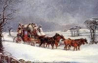 Alken, Henry - The York to London Royal Mail on the Open Road in Winter
