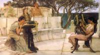 Alma-Tadema, Sir Lawrence - Sappho and Alcaeus