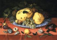 Ambrosius Bosschaert - Fruit still life with shells
