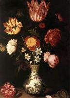 Ambrosius Bosschaert - Still Life with Flowers in a Wan-Li vase