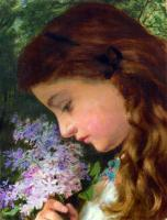 Anderson, Sophie Gengembre - Girl With Lilac