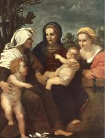 Andrea del Sarto - Madonna and Child with Sts Catherine, Elisabeth and John the