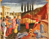Angelico, Fra - Decapitation of Saints Cosmas and Damian