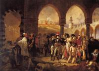 Antoine-Jean Gros - Bonaparte Visiting the Pesthouse in Jaffa