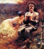 Arthur Hacker - Percival with the Grail Cup