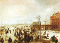 Avercamp, Hendrick - Graphic A Scene on the Ice near a Town