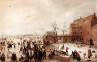 Avercamp, Hendrick - A Scene On The Ice Near A Town