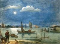 Avercamp, Hendrick - Fishermen By Moonlight