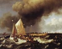 Backhuysen, Ludolf - Boats in a Storm