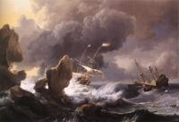 Backhuysen, Ludolf - Ships in Distress off a Rocky Coast