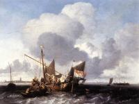 Backhuysen, Ludolf - Ships on the Zuiderzee before the Fort of Naarden