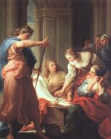 Batoni, Pompeo - Graphic Achilles at the Court of Lycomedes