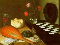 Baugin, Lubin - Graphic The Five Senses (Still-Life with Chessboard)