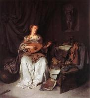 Bega, Cornelis - Woman Playing a Lute