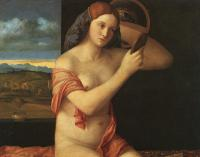 Bellini, Giovanni - Naked Young Woman in Front of the Mirror