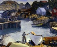 Bellows, George - Cleaning His Lobster Boat