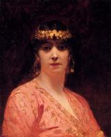 Benjamin Jean Joseph Constant - Portrait Of An Arab Woman