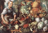 Beuckelaer, Joachim - Market Woman with Fruit, Vegetables and Poultry