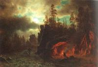 Bierstadt, Albert - The Trappers' Camp