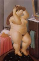 Botero, Fernando - Abstract oil painting.
