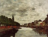 Boudin, Eugene - A Canal near Brussels