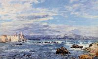 Boudin, Eugene - A Gusty Northwest Wind at Antibes
