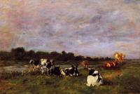 Boudin, Eugene - A Pasture on the Banks of the Touques