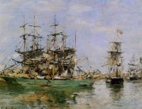 Boudin, Eugene - A Three Masted Ship in Port