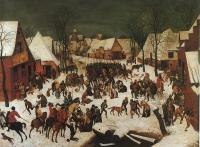 Bruegel, Pieter the Elder - Hunters in the Snow