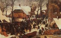 Bruegel, Pieter the Elder - The Adoration of the Kings in the Snow