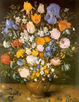 Brueghel, Jan the Elder - Bouquet of Flowers in a Clay Vase (Bouquet of Viennese Irises)