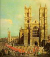 Canaletto - London- Westminster Abbey with a Procession of the Knights of the Bath