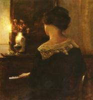 Carl Holsoe - A Lady Playing The Piano