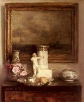Carl Holsoe - Still Life with Classical Column and Statue