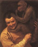 Carracci, Annibale - A Man with a Monkey