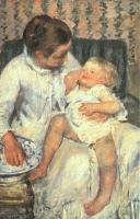 Cassatt, Mary - Mother About to Wash Her Sleepy Child