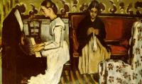 Cezanne, Paul - Girl at the Piano (Ouverture to Tannhauser)
