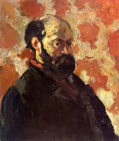 Cezanne, Paul - Self-Portrait on a Rose Background