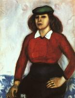 Chagall, Marc - Portrait of the Artist's Sister (Aniuta)