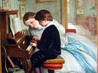 Charles West Cope - The Music Lesson